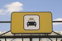 Het teken van de taxi Stock Foto's