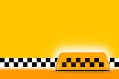 Het teken van de taxi Stock Afbeelding