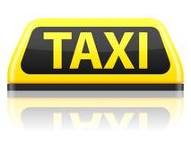 Het teken van de taxi royalty-vrije illustratie