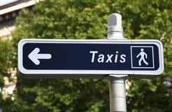 Het teken van de taxi Stock Foto