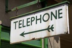 Het Teken van de telefoon Stock Foto