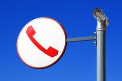 Het teken van de telefoon Stock Afbeeldingen