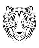 Het teken van de tijger Royalty-vrije Stock Foto