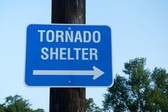 Het teken van de tornadoschuilplaats Royalty-vrije Stock Fotografie
