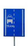 Het teken van de tram Stock Fotografie