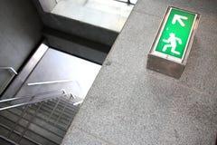Het teken van de uitgang in de metropost Royalty-vrije Stock Fotografie