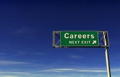 Het Teken van de Uitgang van de Snelweg van carrières Stock Illustratie
