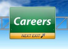 Het Teken van de Uitgang van de Snelweg van carrières Stock Afbeeldingen
