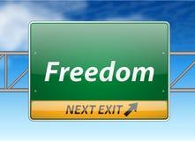 Het Teken van de Uitgang van de Snelweg van de vrijheid Stock Fotografie