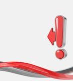 Het teken van de uitroep vector illustratie