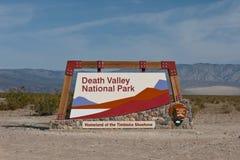 Het teken van de Vallei van de dood Stock Foto