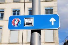 Het teken van de ventilatorstreek stock afbeelding