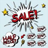 Het teken van de verkoop. Stock Afbeelding