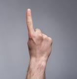 Het teken van de vinger omhoog Royalty-vrije Stock Foto's
