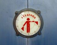 Het teken van de vliegenier Stock Foto's