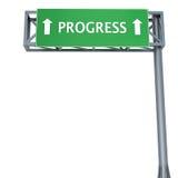 Het teken van de vooruitgang Stock Foto's