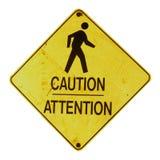Het Teken van de voorzichtigheid Stock Foto