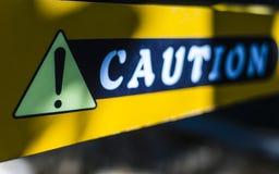 Het teken van de voorzichtigheid stock afbeelding