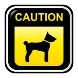 Het teken van de voorzichtigheid - hond Royalty-vrije Stock Foto's