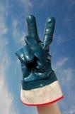 Het teken van de vrede en van de overwinning stock fotografie