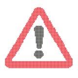 Het teken van de waarschuwingsaandacht, in de stijl die wordt geschilderd van Stock Foto's