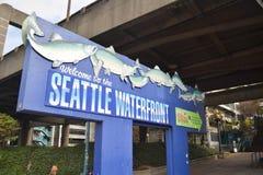 Het teken van de waterkant van Seattle, Seattle, Washington Stock Fotografie