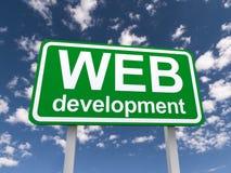 Het teken van de Webontwikkeling Stock Fotografie