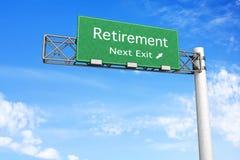 Het Teken van de weg - Pensionering Stock Foto's