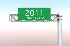 Het Teken van de weg - Volgende Uitgang 2011 Stock Afbeelding