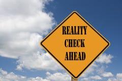 Het teken van de werkelijkheidscontrole Royalty-vrije Stock Foto