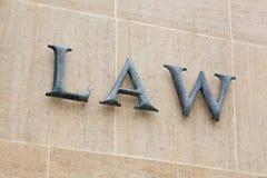 Het teken van de wet Stock Foto