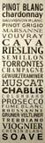 Het Teken van de wijn Royalty-vrije Stock Afbeeldingen