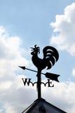 Het teken van de windhaan Stock Foto's