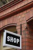 Het teken van de winkel Stock Afbeelding