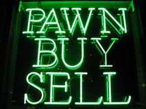 Het Teken van de Winkel van het Pand van het neon royalty-vrije stock foto