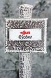 Het teken van de winter in Nationaal Park Ojcowski Stock Fotografie