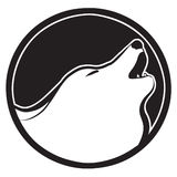 Het teken van de wolf stock foto