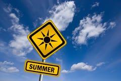 Het teken van de zomer Stock Afbeelding