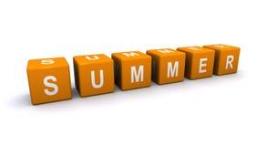 Het teken van de zomer Stock Fotografie