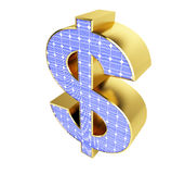Het teken van de zonnepaneeldollar Royalty-vrije Stock Fotografie