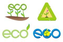 Het teken van Eco Royalty-vrije Stock Foto's