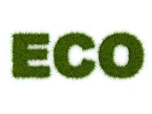 Het teken van Eco van gras Stock Afbeelding