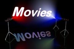 Het teken van films Stock Foto's