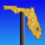 Het teken van Florida met contant geld vector illustratie