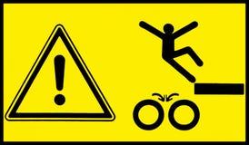 Het Teken van het gevaar De bewegende machines, letten op uw stap stock illustratie