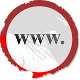 Het teken van Grunge www Royalty-vrije Stock Foto