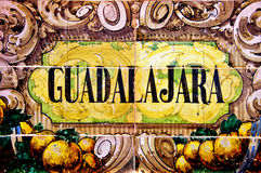 Het teken van Guadalajara Stock Foto
