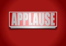 Het teken van het applaus Stock Fotografie