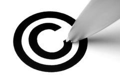 Het Teken van het auteursrecht Stock Afbeelding
