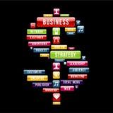 Het teken van het bedrijfsstrategiegeld Royalty-vrije Stock Fotografie
